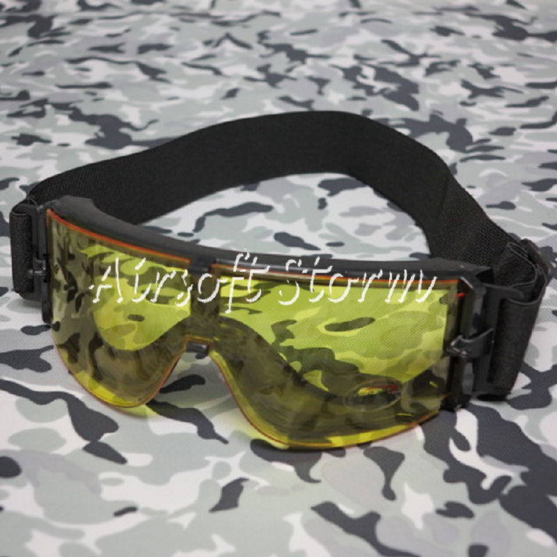 Airsoft SWAT Tactical X800 Goggle Glasses GX1000 Black Yellow