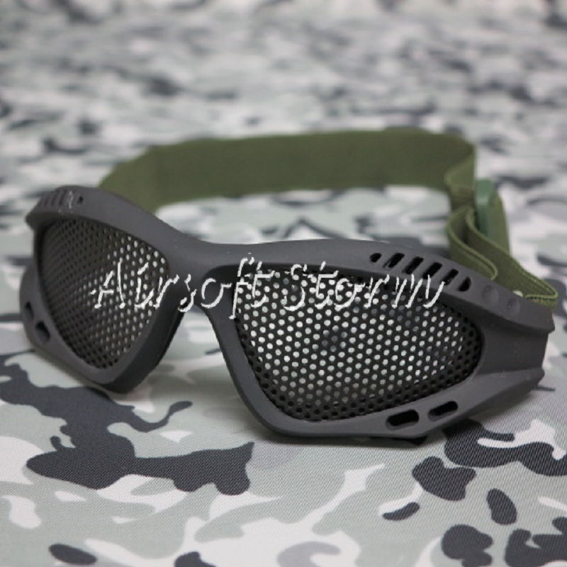 Airsoft SWAT Tactical No Fog Metal Mesh Goggle Glasses Black