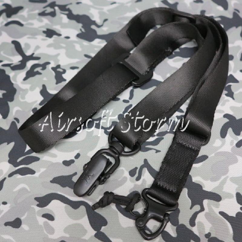 Airsoft SWAT Tactical Gear Single/Two Point MS2 Style Multi Mission Rifle Sling Black