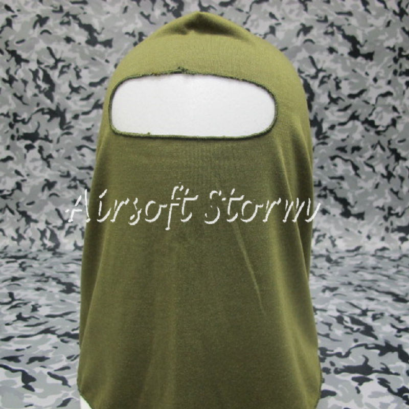 Airsoft SWAT Balaclava Hood 1 Hole Full Head Face Mask Protector Olive Drab OD