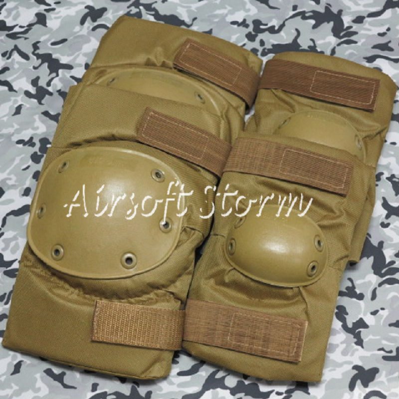 Airsoft Paintball SWAT Tactical Gear Special Force Knee & Elbow Pads Coyote Brown