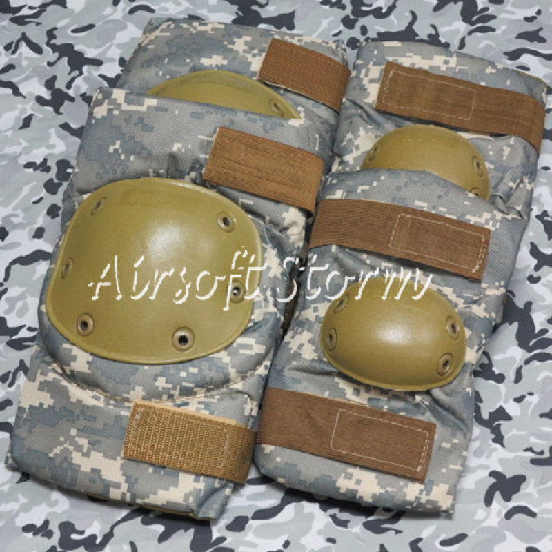 Airsoft Paintball SWAT Tactical Gear Special Force Knee & Elbow Pads ACU Digital Camo