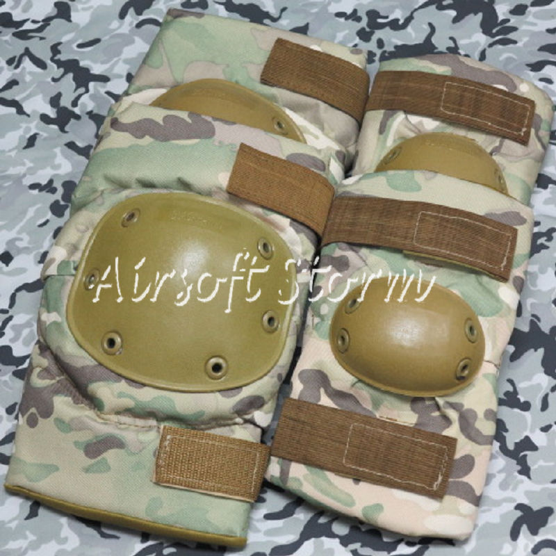 Airsoft Paintball SWAT Tactical Gear Special Force Knee & Elbow Pads Multi Camo