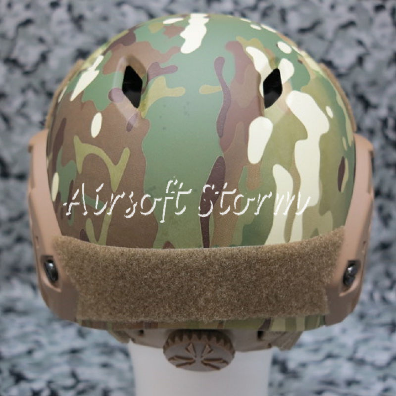 Airsoft Paintball SWAT Tactical Gear FAST Base Jump Style Helmet Multi Camo - Click Image to Close