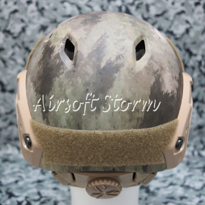 Airsoft Paintball SWAT Tactical Gear FAST Base Jump Style Helmet A-TACS Camo - Click Image to Close