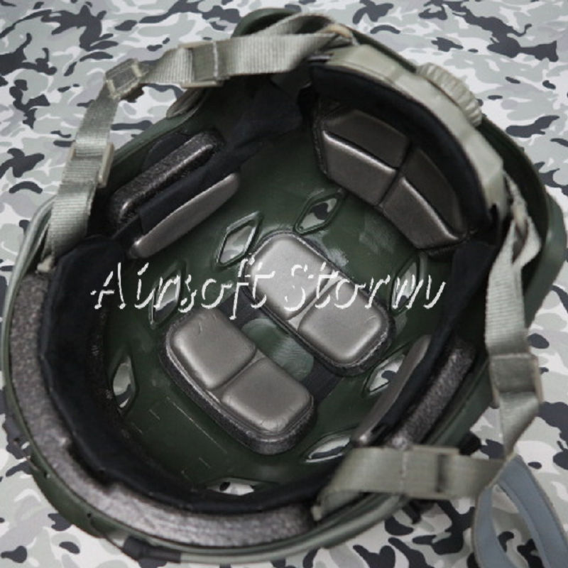 Airsoft Paintball SWAT Tactical Gear FAST Base Jump Style Helmet Olive Drab OD - Click Image to Close