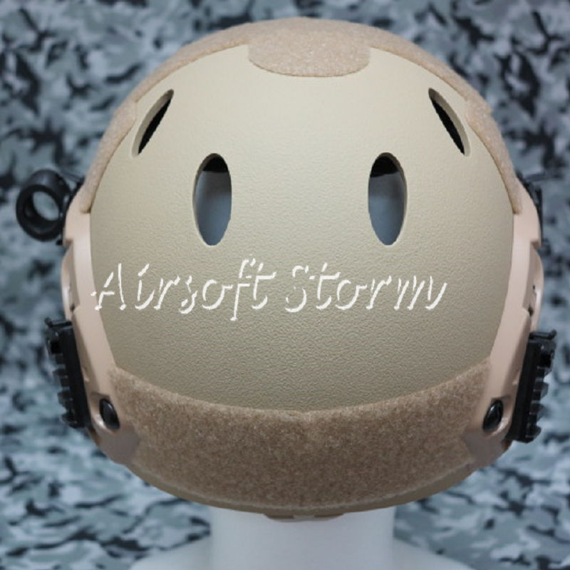 Airsoft Paintball SWAT Tactical FAST Carbon Style Helmet Desert Tan - Click Image to Close