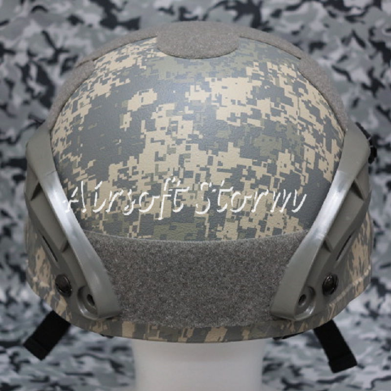 Airsoft Paintball SWAT Gear MICH TC-2000 ACH Helmet with NVG Mount & Side Rail ACU Digital Camo - Click Image to Close