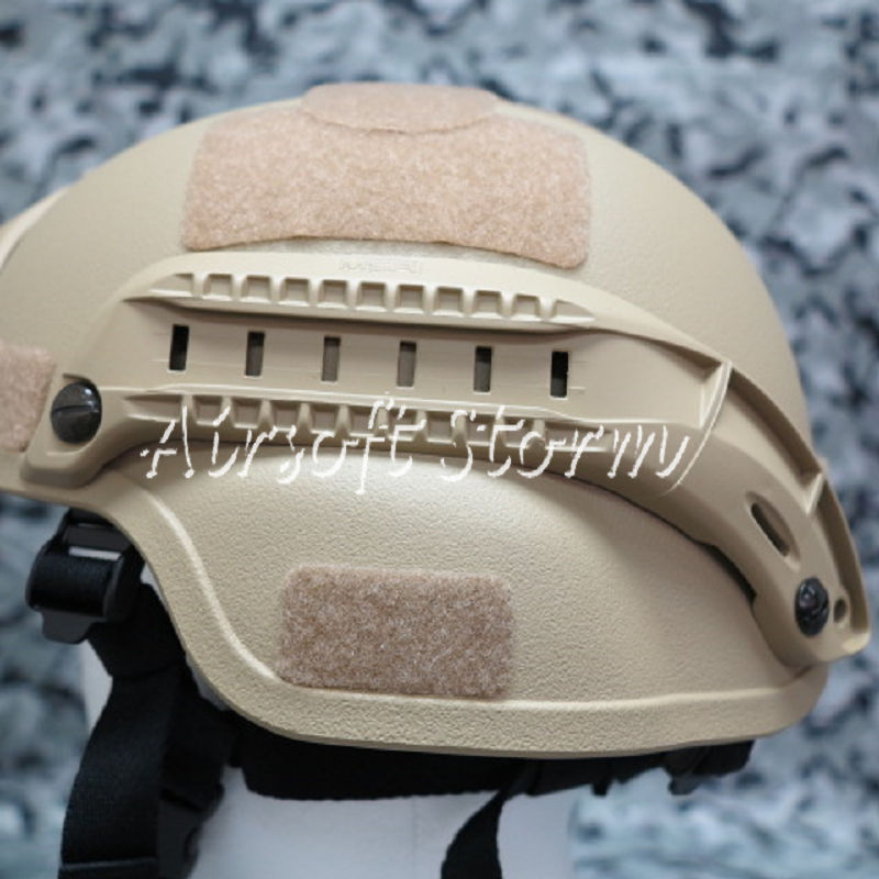 Airsoft SWAT Tactical Gear MSA Style Helmet Rail for MICH/ACH Helmet Desert Tan
