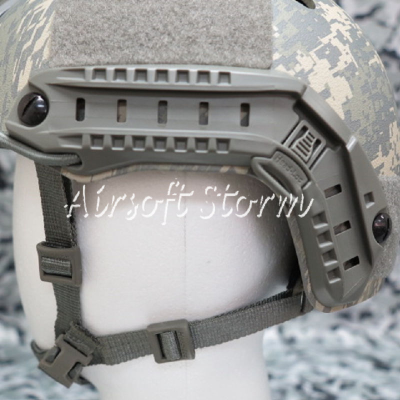 Airsoft SWAT Tactical Gear ARC Helmet Rail for MICH/ACH/PASGT Helmet ACU Foliage Green