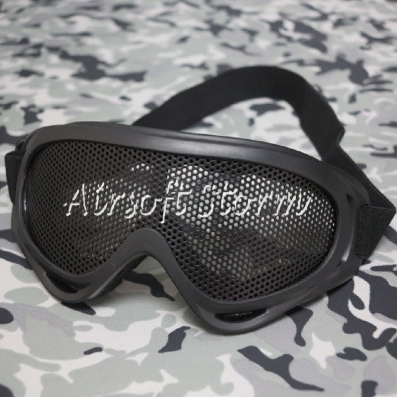 Airsoft Tactical X400 No Fog Metal Mesh Tactical Goggle Black