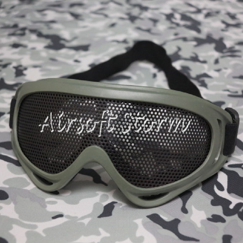 Airsoft SWAT Tactical X400 No Fog Metal Mesh Tactical Goggle Olive Drab