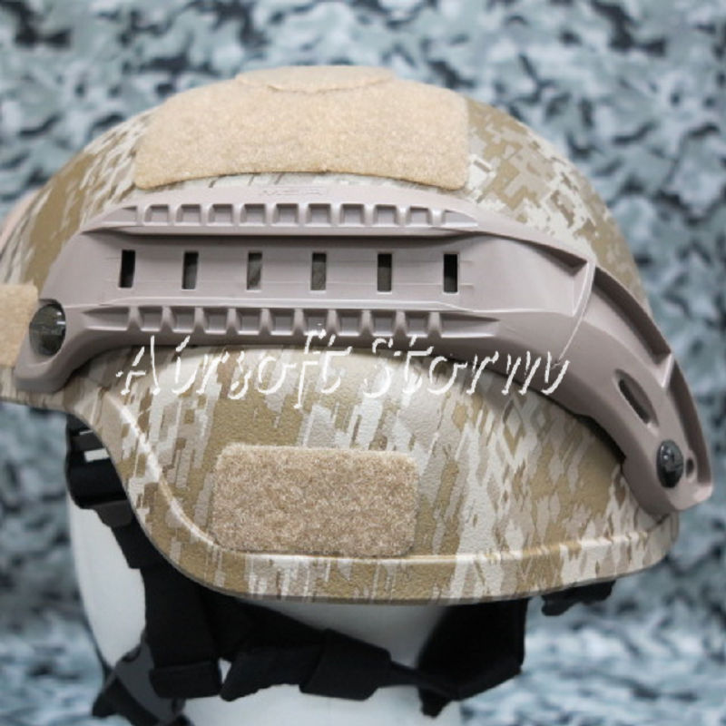 Airsoft SWAT Tactical Gear MSA Style Helmet Rail for MICH/ACH Helmet Coyote Brown