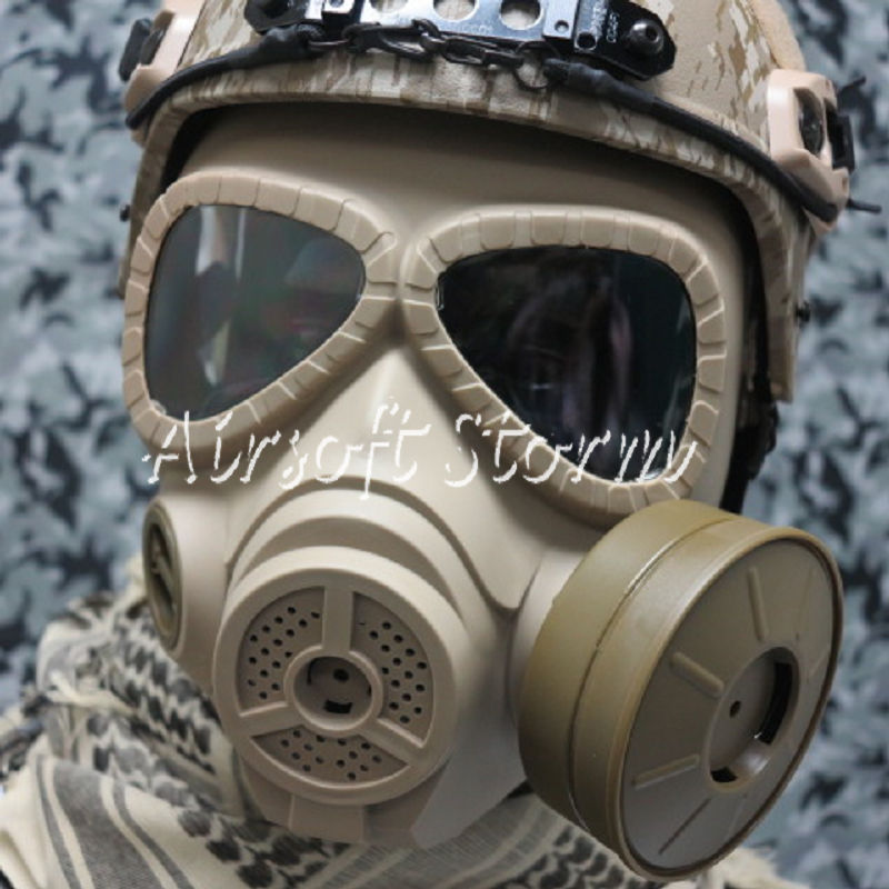 Airsoft Paintball SWAT Tactical Gear M04 Dummy Gas Protection Mask Desert Tan