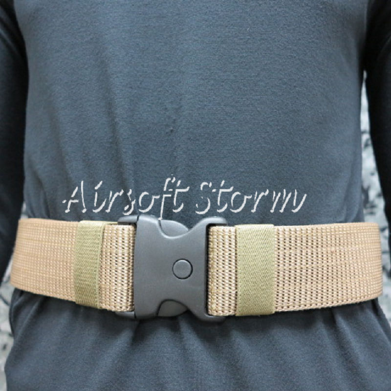 "Airsoft SWAT Tactical Gear Combat BDU 2.25"" Duty Belt Coyote Brown"