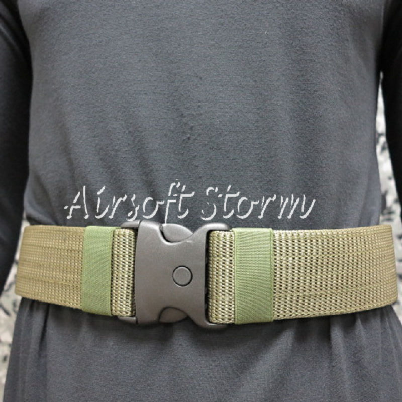 "Airsoft SWAT Tactical Gear Combat BDU 2.25"" Duty Belt Olive Drab OD"