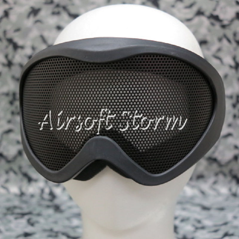 Airsoft SWAT Tactical Gear X400 No Fog Metal Mesh Tactical Goggle Black
